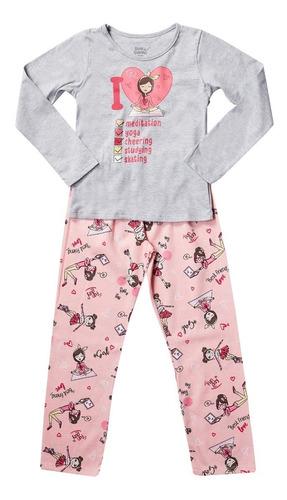 Conjunto Pijama Kids Blusa Estampa Relex E Calça Elian