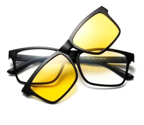 Óculos Para Dirigir À Noite Armação Para Grau E 2 Flips