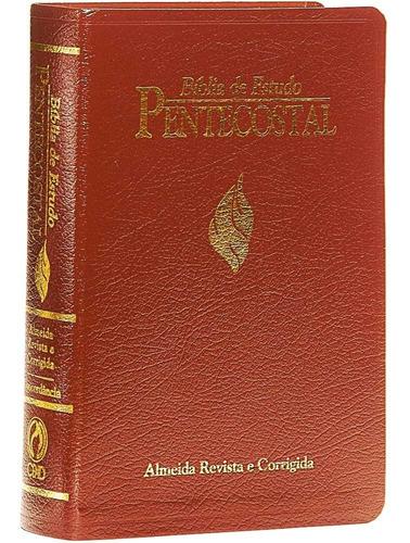 Bíblia De Estudo Pentecostal Luxo Média