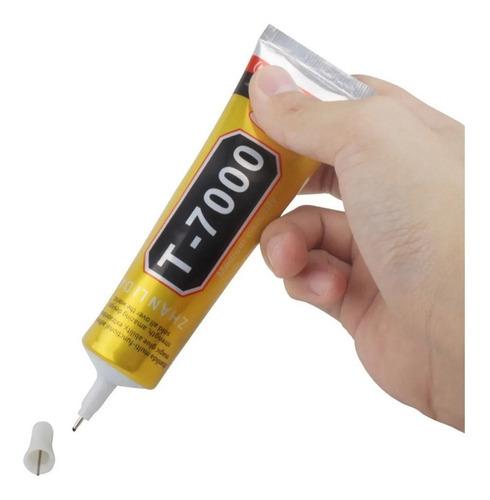 Cola P/ Colar Celular T7000 B7000 Preta Ou 15ml Transparente