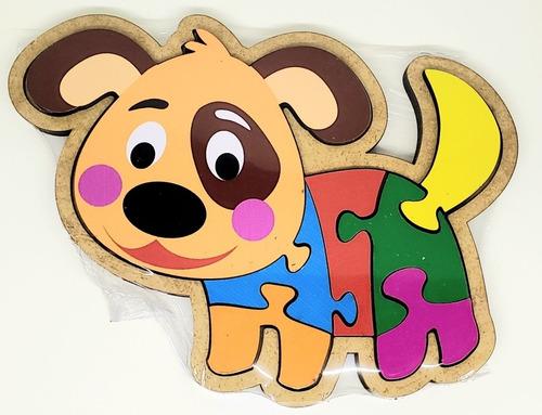 Brinquedo Educativo Pedagógico Montessori Encaixe Cachorro