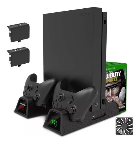 Suporte Base Vertical Xbox One One S/x Cooler Dock Cabo Usb