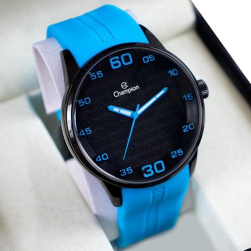 Relógio Masculino Esportivo Champion Original Azul Barato