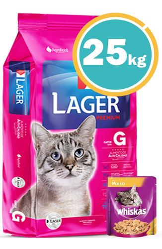 Lager Gato Adulto 22kg C/salsa Paté + Envío S/cargo *