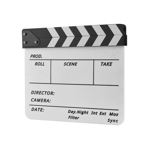 Claqueta De Cine De Acr?lico Borrado En Seco Profesional