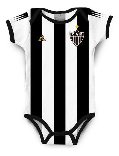 Body Infantil Atlético Mineiro Personalizado C/ Nome Do Bebê