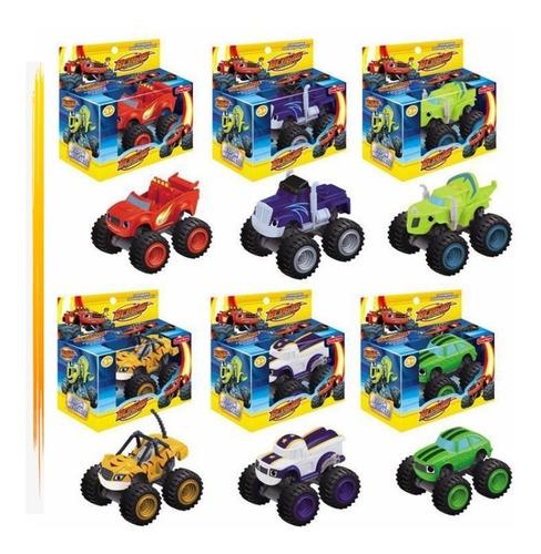 Kit Com 6 Carrinho Blazer Monster Machine - Racer Promocao
