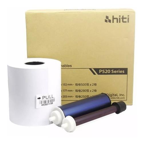 Papel / Ribbon Hiti P520l / 525l 15x20 /6x8