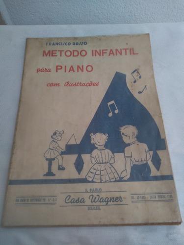 Antigo Livro Metodo Escola Musical Piano Infantil Estrela