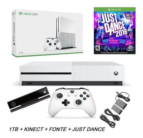 Console Microsoft Xbox One S 1tb + Sensor Kinect +just Dance