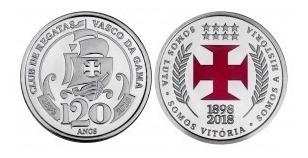 Medalha Oficial Futebol Vasco Da Gama 120 Anos Casa Da Moeda