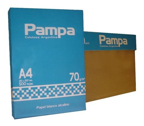 Kit 10 Resmas Pampa A4 70 Gr 21 X 29,7
