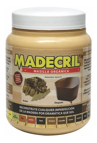 Madecril Masilla Orgánica Para Madera 15 Colores Disponibles