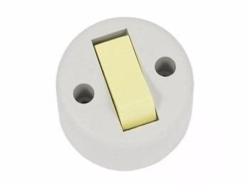 Interruptor De Sobrepor Redondo 6a 250v Ilumi Original