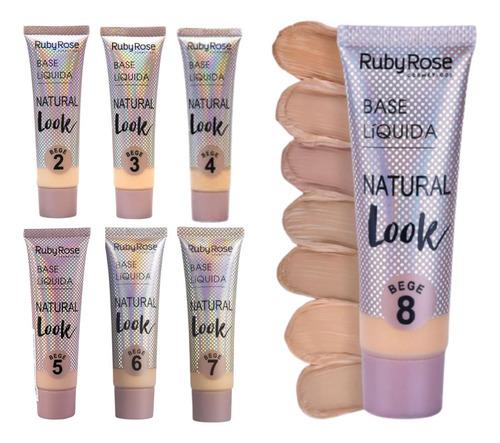 Base Ruby Rose Cor Bege Maquiagem C/ Nota Fiscal