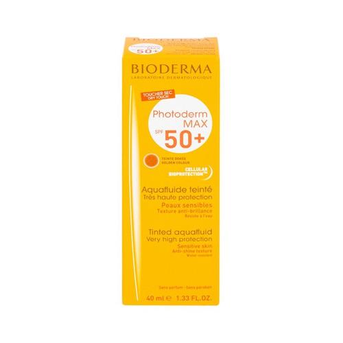 Protector Solar Bioderma Photoderm Max Aquafluide Tono Dorado Para Rostro Crema Resistente Al Agua Fps50 X 40ml
