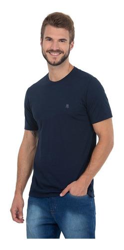 Camiseta Azul Escuro Polo Wear Básica Gola Careca