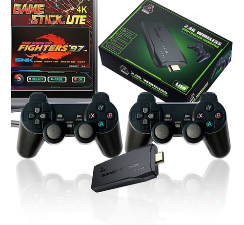 Video Game Stick 4k 10mil Jogos Retro 2 Controles Sem Fio