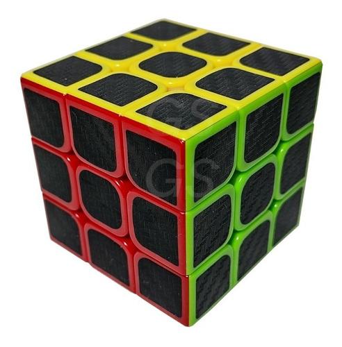 Cubo Mágico 3x3x3 Profissional Adesivos Em Fibra De Carbono