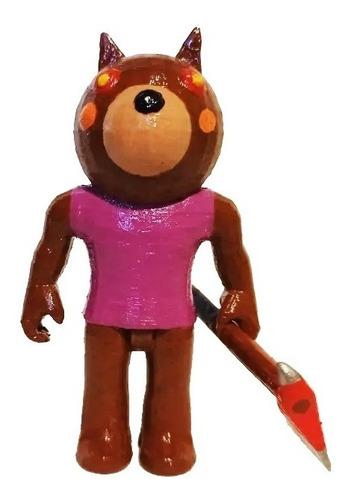 Piggy Doggy Roblox Figura Impresa 3d Pintada A Mano 11 Cms