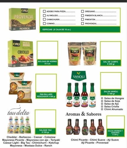 Condimentos Y Especias Unid De 25 Gr