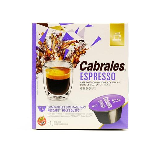Cápsulas De Café Espresso Cabrales 14u