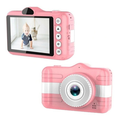 Mini Câmera Fotográfica Infantil Animação Foto Video Digital
