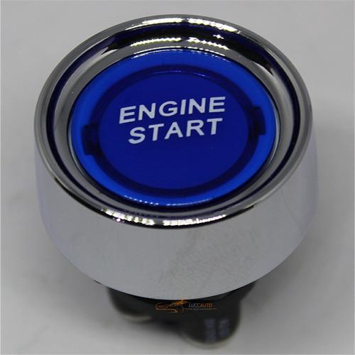 Botão Partida Start Stop Universal Com Led Cromado Iluminado
