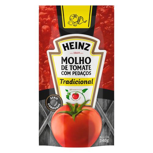 Molho De Tomate Tradicional Heinz Em Sachê 340g