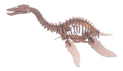 Dinossauro Plesiossauro Quebra Cabeça 3d Puzzle Mdf Genitori Original