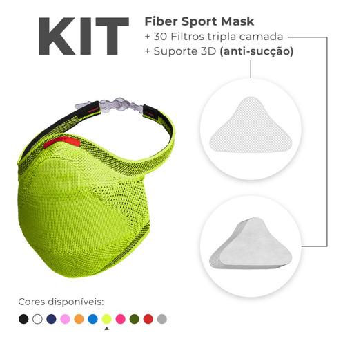 Máscara Fiber Knit Sport + Filtro De Proteção + Suporte