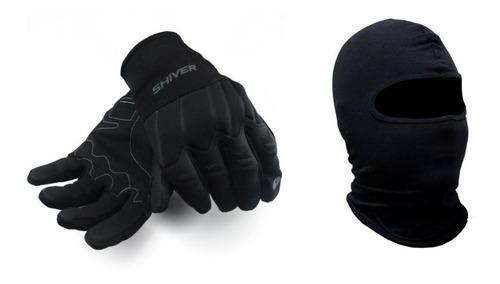 Kit Toca Ninja Balaclava luva Shiver Moto Impermeável Frio