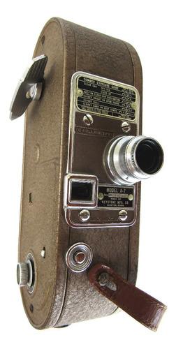 Filmadora Antiga Keystone Mfg 16 Mm À Corda Usa Anos 1940/50