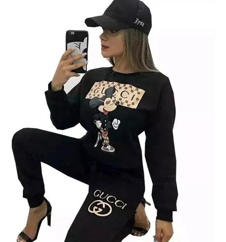 Conjunto Jacquard Moletom Moletom Feminino Inspired Gucci