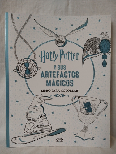Harry Potter Y Sus Artefactos Mágicos - Libro Para Colorear