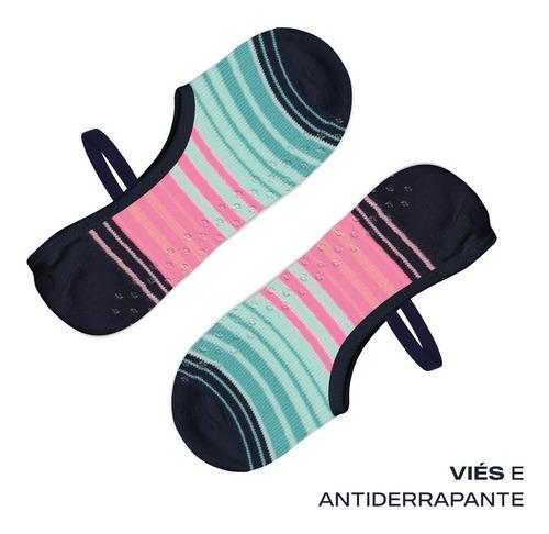 Kit C/ 10 Sapatilhas Pilates Feminina Selene Antiderrapante