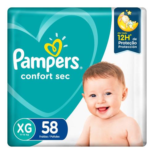 Pañales Pampers Confort Sec Max  Xg 58u