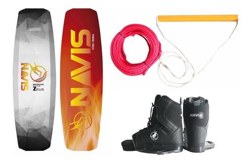 Kit Completo Wakeboard Navis Prancha Zeus + Botas + Cabo