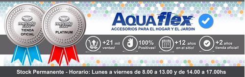 Manguera Riego 10bar 3/4 X 25mts + Kit Completo 3/4 Aquaflex