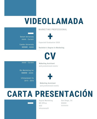 Armado Cv + Carta Presentación + Videollamada Personalizados