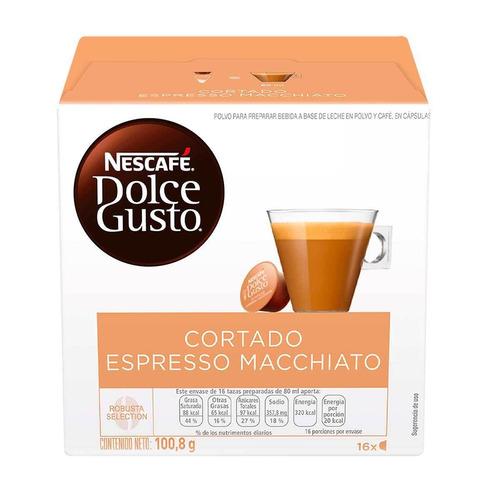 Café Cortado Espresso Macchiato En Cápsula Nescafé Dolce Gusto 16u