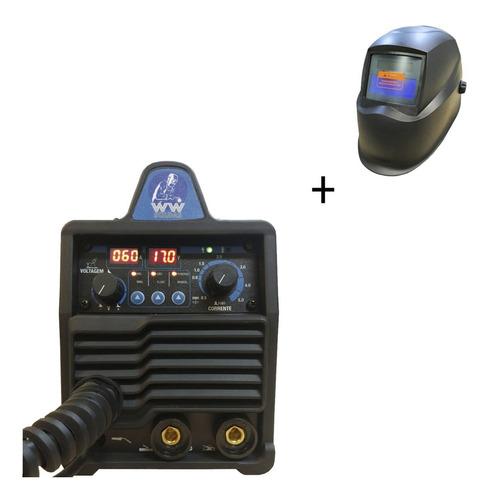 Maquina Multiprocesso Mig/tig/eletrodo 140amp + Mascara