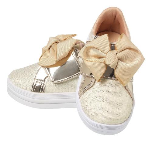 Tenis Infantil Feminino Sapato Menina Confortável Moda Bebê