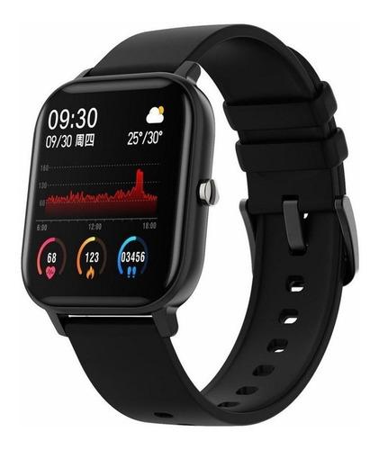 Smartwatch Colmi P8 1.4  Caixa De  Liga  Black Pulseira  Black De  Silicone