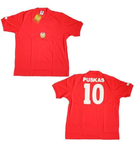 Camisa + Revista Futebol Hungria Copa 1954 Puskas Lance Nova