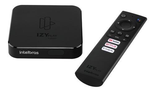 Tv Box Intelbras Izy Play De Voz Full Hd 8gb Preto Com Memór