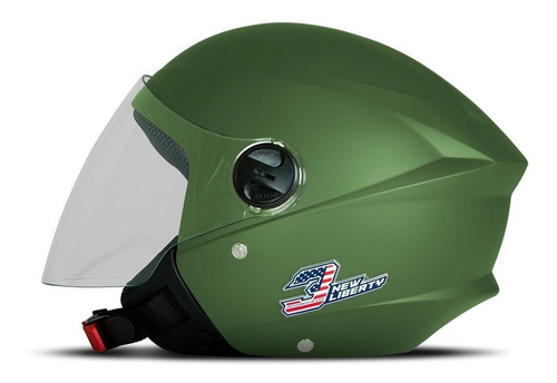 Capacete Moto New Liberty Three Elite Aberto 2020 Fosco