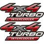 Par De Adesivos 4x4 Turbo Intercooler Hilux 2009 10 11 12