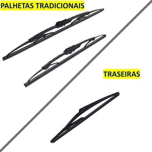 Par Palheta Limpador Modelo Original Tradicional Traseira