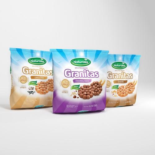 Galletitas Granitas Combo Alimentos Naturales Marinozzi X 12